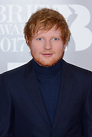 www.acepixs.com<br /> <br /> February 22 2017, London<br /> <br /> Ed Sheeran arriving at The BRIT Awards 2017 at The O2 Arena on February 22, 2017 in London, England.<br /> <br /> By Line: Famous/ACE Pictures<br /> <br /> <br /> ACE Pictures Inc<br /> Tel: 6467670430<br /> Email: info@acepixs.com<br /> www.acepixs.com
