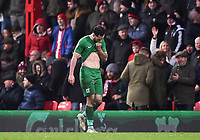 Preston's walks off the pitch after being shown a red card<br /> <br /> Photographer Jonathan Hobley/CameraSport<br /> <br /> The EFL Sky Bet Championship - Brentford v Preston North End - Saturday 10th February 2018 - Griffin Park - Brentford<br /> <br /> World Copyright &copy; 2018 CameraSport. All rights reserved. 43 Linden Ave. Countesthorpe. Leicester. England. LE8 5PG - Tel: +44 (0) 116 277 4147 - admin@camerasport.com - www.camerasport.com