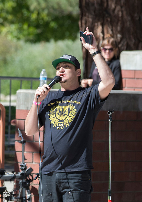 Kronic spoke during the inaugural Bud and Brew Music Festival in Wingfield Park in downtown Reno on Saturday, Sept. 23, 2017.