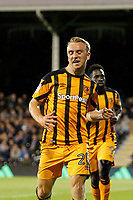 GOAL - Jarrod Bowen of Hull City scores during the Sky Bet Championship match between Fulham and Hull City at Craven Cottage, London, England on 13 September 2017. Photo by Carlton Myrie.