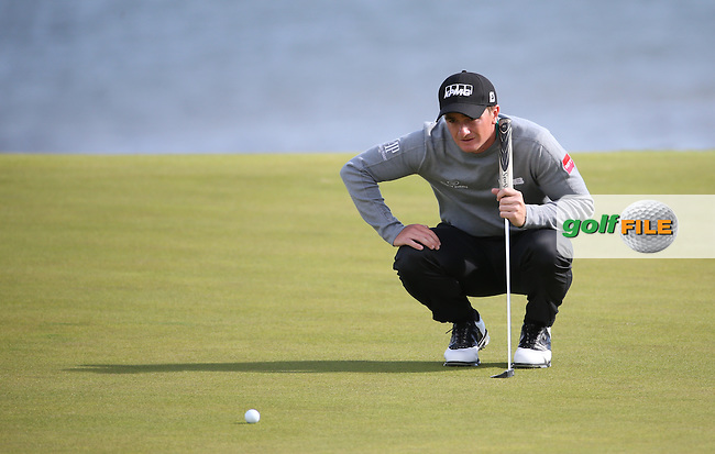 Paul Dunne (IRL) putting on the 12th during the First Round of the 2016 Aberdeen Asset Management Scottish Open, played at Castle Stuart Golf Club, Inverness, Scotland. 07/07/2016. Picture: David Lloyd | Golffile.<br /> <br /> All photos usage must carry mandatory copyright credit (&copy; Golffile | David Lloyd)