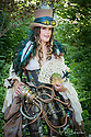 June 11, 2017 / Steam Punk Event at Morris Aboretum in Philadelphia, PA / shown is Megan Hanley in costume / Photo by Bob Laramie