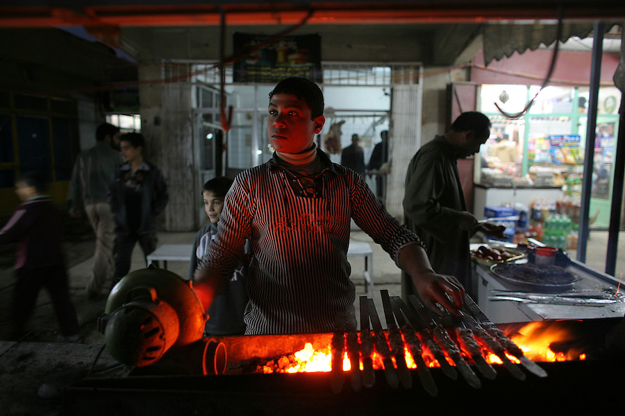 Economic activity - in the form of re-opening shops and market stalls - can be seem returning to the conflict scarred streets of the northwestern Baghdad Ghazaliyah district on Wednesday February 13, 2008.