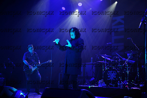 KILLING JOKE - guitarist Kevin 'Geordie' Walker and vocalist Jaz Coleman - performing live at the O2 Academy in Brixton London UK - 04 Nov 2016.  Photo credit: Zaine Lewis/IconicPix