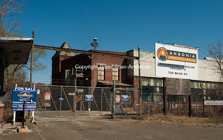 WATERBURY, CT-0424014JS01- The Ansonia Specialty Metals' factory, located on Bank Street in Waterbury, recently closed its doors. <br /> Jim Shannon Republican-American