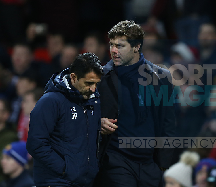 Mauricio Pochettino manager of Tottenham during the English Premier League match at Old Trafford Stadium, Manchester. Picture date: December 11th, 2016. Pic Simon Bellis/Sportimage
