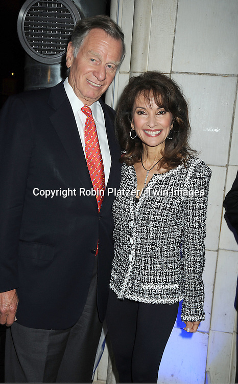 Helmet Huber and wife actress Susan Lucci in black and white Chanel jacket attends the Little Flower Children and Family Services of New York Awards Dinner  on May 9, 2012 at Guastavinos in New York City. Robert B Campbell was the honoree.