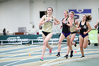 WINSTON-SALEM, NC - FEBRUARY 07: Anna Campbell #4 wins her heat in the Women's 3000 Meters at JDL Fast Track on February 07, 2020 in Winston-Salem, North Carolina.