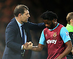 West Ham's Slaven Bilic shakes hands with Alex Song<br /> <br /> Barclays Premier League - West Ham United v Stoke City - Upton Park - England -12th December 2015 - Picture David Klein/Sportimage