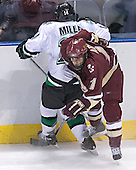 Brad Miller, Joe Adams - The Boston College Eagles defeated the University of North Dakota Fighting Sioux 6-5 on Thursday, April 6, 2006, in the 2006 Frozen Four afternoon Semi-Final at the Bradley Center in Milwaukee, Wisconsin.