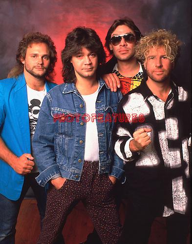 Van Halen 1985 Michael Anthony, Eddie Van Halen, Alex Van Halen, Sammy Hagar<br /> &copy; Chris Walter