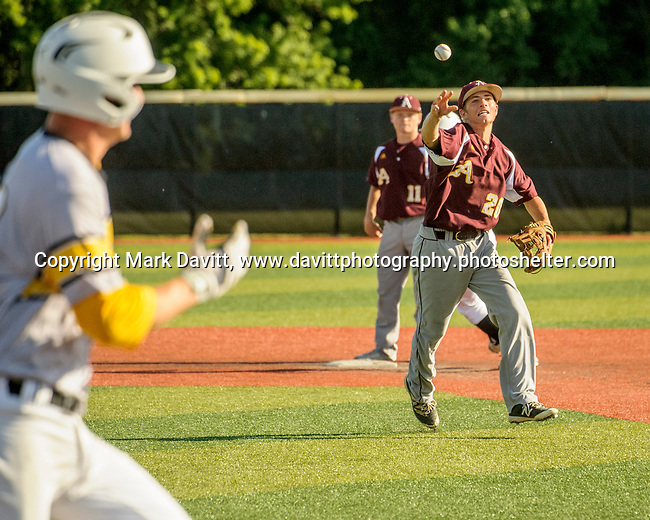 Southeast Polk and Ankeny met for a double header at SEP June 21. SEP prevailed twice, 2-0 and 8-1. AHS's Seth Harpenau delivers the ball for an out.