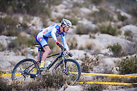 Chelva, SPAIN - MARCH 6: Francisco Murillo during Spanish Open BTT XCO on March 6, 2016 in Chelva, Spain