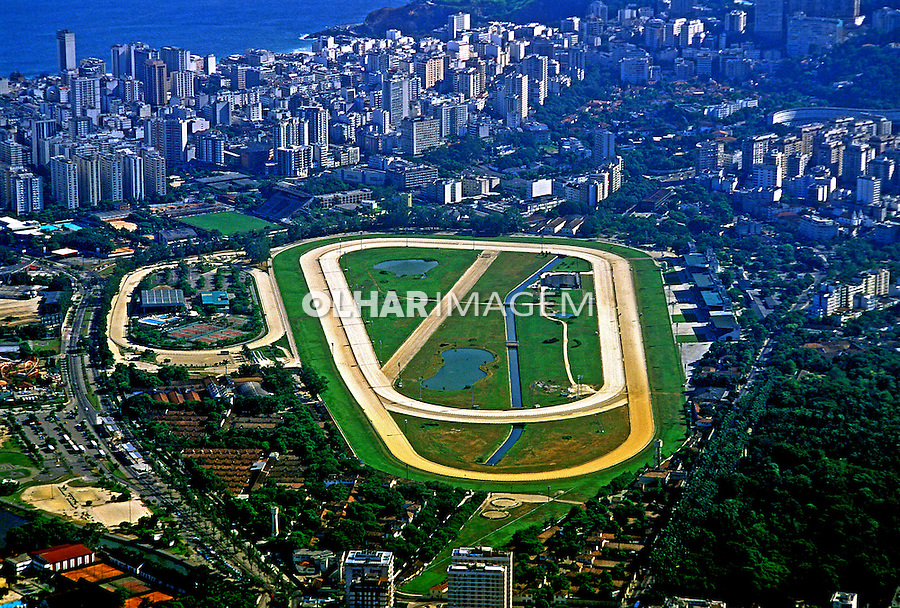 Vista  aérea do Joquei Clube. Rio de Janeiro. 1998. Foto de Juca Martins.