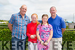 Sean Kissane from Tralee, Shauna Kissane from Tralee, Emma Brosnan from Tralee and Denis Brosnan also from Tralee  at the Kerry International Horse Racing at Ballybeggan Race Track on Sunday dedicated to the memory of John Browne