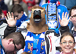 St Johnstone v Aberdeen...13.04.14    William Hill Scottish Cup Semi-Final, Ibrox<br /> A saints fan with a horse head mask<br /> Picture by Graeme Hart.<br /> Copyright Perthshire Picture Agency<br /> Tel: 01738 623350  Mobile: 07990 594431