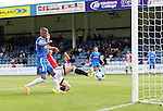 Sheffield United's Kieron Freeman scoring his sides opening goal during the League One match at the Priestfield Stadium, Gillingham. Picture date: September 4th, 2016. Pic David Klein/Sportimage