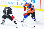 Terence Chim (l) of Gaggia Empire and Falcon Wong of Principal battle for the puck during the Principal Standard League match between Gaggia Empire vs Principal at the Mega Ice on 29 November 2016 in Hong Kong, China. Photo by Marcio Rodrigo Machado / Power Sport Images