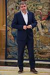 King Felipe VI of Spain receive in Royal Audience to Secretary General of CCOO, Unai Sordo Calvo and previous Secretary General of CCOO, Ignacio Fernandez Toxo at Zarzuela Palace in Madrid, July 24, 2017. Spain.<br /> (ALTERPHOTOS/BorjaB.Hojas)