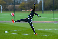 Wednesday  27 April 2016<br /> Pictured: Kyle Naughton of Swansea City in action during training<br /> Re: Swansea City Training Session at the Fairwood Ground, Swansea, Wales, UK