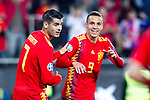 Spain's Rodrigo Moreno celebrates goal  during the qualifying match for Euro 2020 on 23th March, 2019 in Valencia, Spain. (ALTERPHOTOS/Alconada)