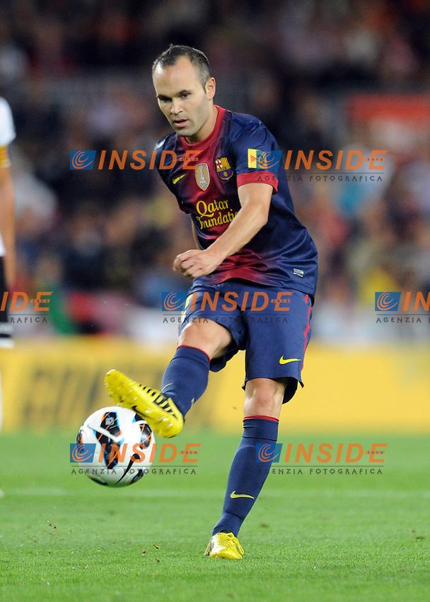 Andres Iniesta (Barcelone) .Barcellona 02/09/2012.Football Calcio 2012/2013.Liga .Barcellona vs Valencia.Foto Insidefoto / Panoramic .Italy Only