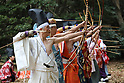 Japanese archers perform ancient rites at Meiji shrine in Tokyo