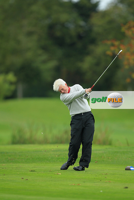Roderick Park (Park Consulting Services) on the 15th tee during Round 3 of The Cassidy Golf 103rd Irish PGA Championship in Roganstown Golf Club on Saturday 12th October 2013.<br /> Picture:  Thos Caffrey / www.golffile.ie