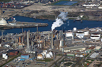 aerial photograph of the Shell Deer Park Refinery, Houston Ship Channel, Texas,
