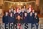 Students from Curranes NS Castleisland who were confirmed by Bishop Bill Murphy in St Stephen's and John's Church Castleisland on Friday   Copyright Kerry's Eye 2008