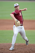Florida State Seminoles pitcher Bryant Holtmann (33) during a game against the South Florida Bulls on March 5, 2014 at Red McEwen Field in Tampa, Florida.  Florida State defeated South Florida 4-1.  (Copyright Mike Janes Photography)