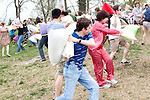 A mass pillow fight in Freedom Park in Atlanta, Georgia April 3, 2010.
