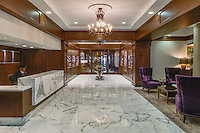 The lobby at the prestigous 850 North Lake Shore Drive community in Chicago, IL