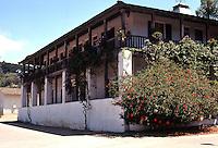 San Diego: Casa de Bandini, 1829. NE Corner, Old Town. Calhoun & Mason. Added second story in 1869. Was Cosmopolitan Hotel and now a restaurant. Photo '78.