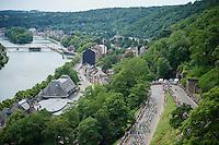peloton attacking the Citadel de Namur<br /> <br /> stage 4: Seraing (BEL) - Cambrai (FR) <br /> 2015 Tour de France
