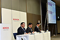 February 3, 2017, Tokyo, Japan - Japans Honda Motor Co., reports the automakers earnings for the third quarter of fiscal year 2017 in Tokyo on Friday, February 3, 2017. For fiscal 2016,?Honda?raised its group net profit outlook to?545 billion yen, up 58.2 percent from a year earlier.  (Photo by Natsuki Sakai/AFLO) AYF -mis-
