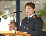 10/09/2015<br /> Garda Commissioner Noirin O'Sullivan pictured at the Garda Graduation Ceremony at the Garda College, Templemore, Co. Tipperary.<br /> Pic: Press 22