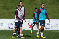 Jamie Vardy, Chris Smalling and Kyle Walker during the part open training session of the  England national football squad at St George's Park, Burton-Upon-Trent, England on 31 August 2017. Photo by James Williamson.
