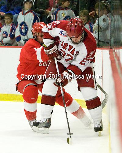 Keir Ross (Cornell - 4), Michael Biega (Harvard - 27) - The visiting Cornell University Big Red defeated the Harvard University Crimson 2-1 on Saturday, January 29, 2011, at Bright Hockey Center in Cambridge, Massachusetts.