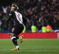4th February 2020; Kassam Stadium, Oxford, Oxfordshire, England; English FA Cup Football; Oxford United versus Newcastle United; Allan Saint-Maximin of Newcastle celebrates scoring in 26th minute of extra time 2-3