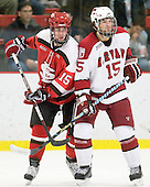 George Hughes (St. Lawrence - 15), Doug Rogers (Harvard - 15) - The St. Lawrence University Saints defeated the Harvard University Crimson 3-2 on Friday, November 20, 2009, at the Bright Hockey Center in Cambridge, Massachusetts.