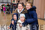Pictured at the Tralee Christmas Parade on Saturday, were l-r: Darren O'Brien Angel, Lexi and Jade Quilligan, Tralee,