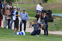 Robert Rock (ENG) on the 10th green during Round 3 of the Open de Espana 2018 at Centro Nacional de Golf on Saturday 14th April 2018.<br /> Picture:  Thos Caffrey / www.golffile.ie<br /> <br /> All photo usage must carry mandatory copyright credit (&copy; Golffile | Thos Caffrey)