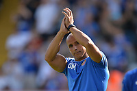 Stevenage manager Dino Maamria at the final whistle during Stevenage vs Tranmere Rovers, Sky Bet EFL League 2 Football at the Lamex Stadium on 4th August 2018