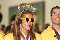 ATENÇAO EDITOR: FOTO EMBARGADA PARA VEÍCULOS INTERNACIONAIS. SAO PAULO, 11 DE SETEMBRO DE 2012.  GOVERNADOR ALCKMIN RECEBE ATLETAS PARAOLIMPICOS. a atleta Therezinha Guilhermina durante a entrega para  os atletas paraolimpicos da medalha do Mérito Esportivo na manha desta terça feira no Palacio dos Bandeirantes, na zona sul da capital paulista. FOTO ADRIANA SPACA - BRAZIL PHOTO PRESS