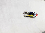6 February 2009: Corinna Martini from Germany slides through a curve in the Women's Competition finishing in 17th place for the event with a combined time of 1:29.778 at the 41st FIL Luge World Championships, in Lake Placid, New York, USA. .  .Mandatory Photo Credit: Ed Wolfstein Photo