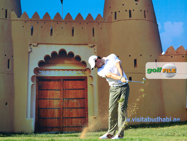 Rory McIlroy (NIR) tees off the 15th tee during Friday's Round 2 of the Abu Dhabi HSBC Golf Championship at Abu Dhabi Golf Club, 18th January 2013 (Photo Eoin Clarke/www.golffile.ie)