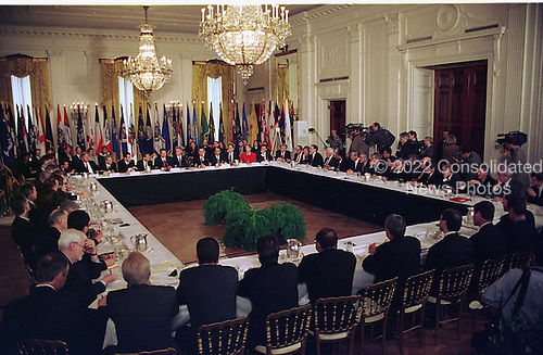 United States President Bill Clinton meets with the National Governor's Association in The East Room of The White House in Washington, D.C. on February 3, 1997..Credit: Ron Sachs / CNP