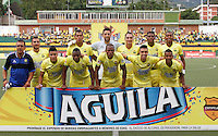 BUCARAMANGA-COLOMBIA-30-07-2016. Atlético Bucaramanga y Jaguares FC en partido por la fecha 6 de la Liga Águila II 2016 jugado en el estadio Alfonso López de la ciudad de Bucaramanga./ Atletico Bucaramanga and Jaguares FC in match for the date 6 of the Aguila League II 2016 played at Alfonso Lopez stadium in Bucaramanga city. Photo: VizzorImage / Duncan Bustamante / Cont
