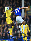 17th March 2019, Goodison Park, Liverpool, England; EPL Premier League Football, Everton versus Chelsea; Antonio Rudiger of Chelsea and Dominic Calvert-Lewin of Everton compete for the ball